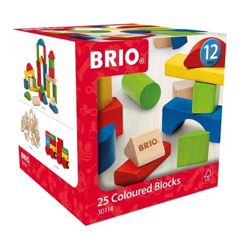 Zdjęcie BRIO Kolorowe Drewniane Klocki 25 el.