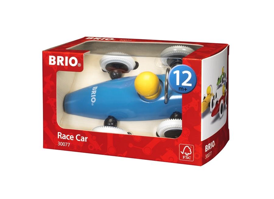 Zdjęcie BRIO Samochód Drewniany Wyścigówka Niebieski