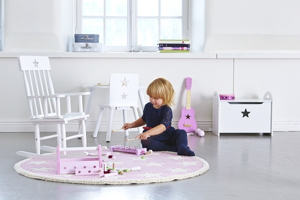 Zdjęcie Kids Concept Skrzynia Biała w Gwiazdki
