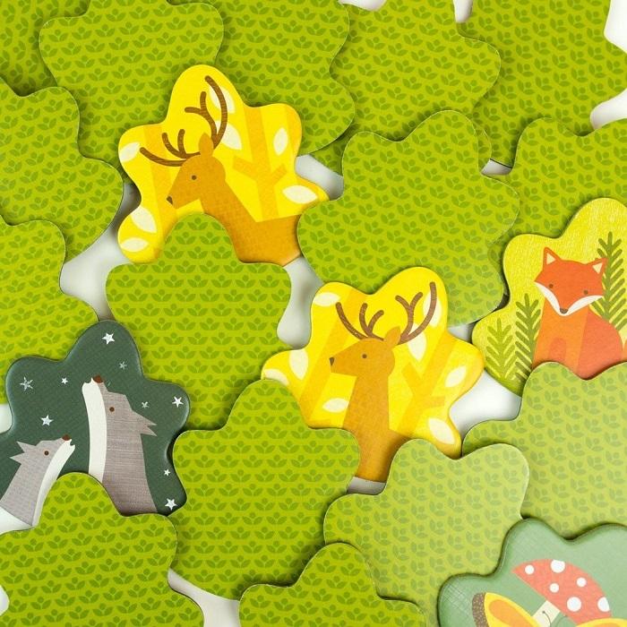 Zdjęcie Petit Collage Gra Memory Zwierzęta Leśne