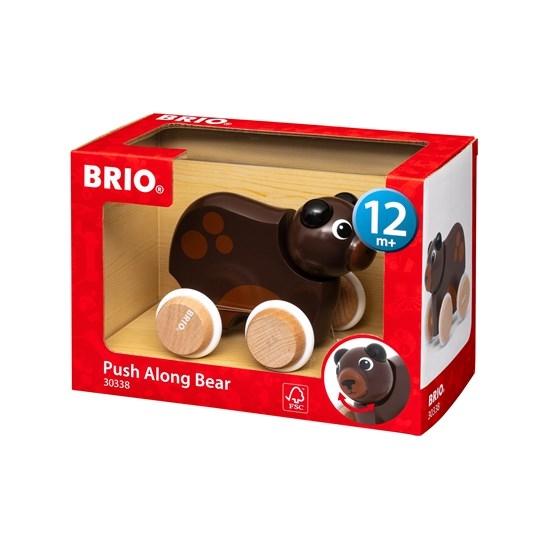Zdjęcie BRIO Drewniana Zabawka do Pchania Miś