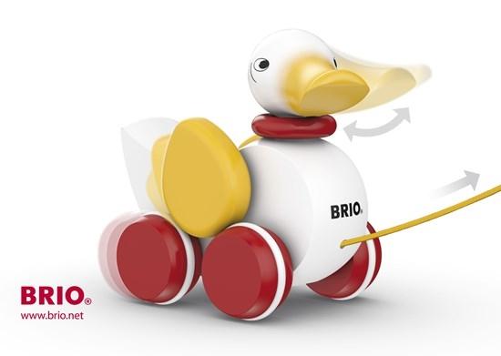 Zdjęcie BRIO Zabawka do Ciągnięcia Kaczka