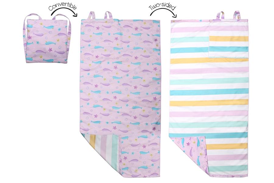 Zdjęcie FlapJack Ręcznik Plecak Plażowy dla Dzieci 2w1 Narwal