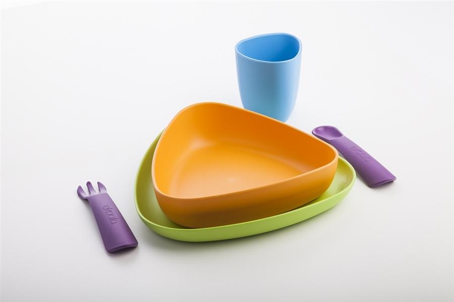 Zdjęcie eKoala Zestaw Obiadowy BIOplastik Multicol