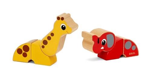Zdjęcie BRIO Klocki Magnetyczne Słoń i Żyrafa