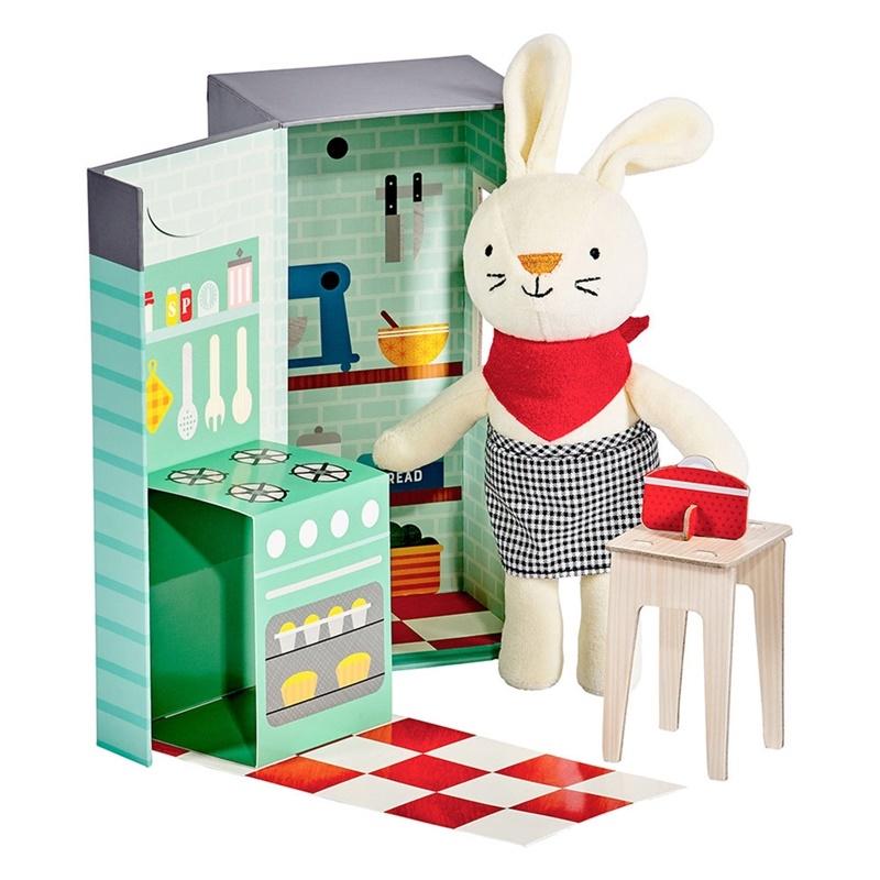 Zdjęcie Petit Collage Przytulanka w Pudełku Królik