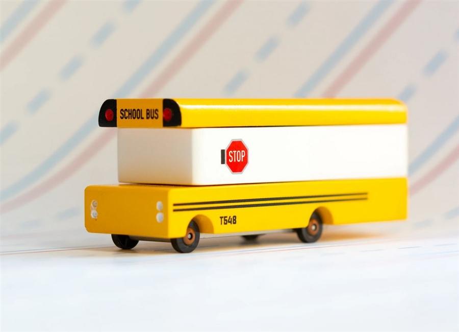 Zdjęcie Candylab Samochód Drewniany School Bus