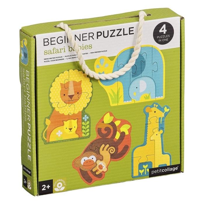 Zdjęcie Petit Collage Pierwsze Puzzle Safari Baby