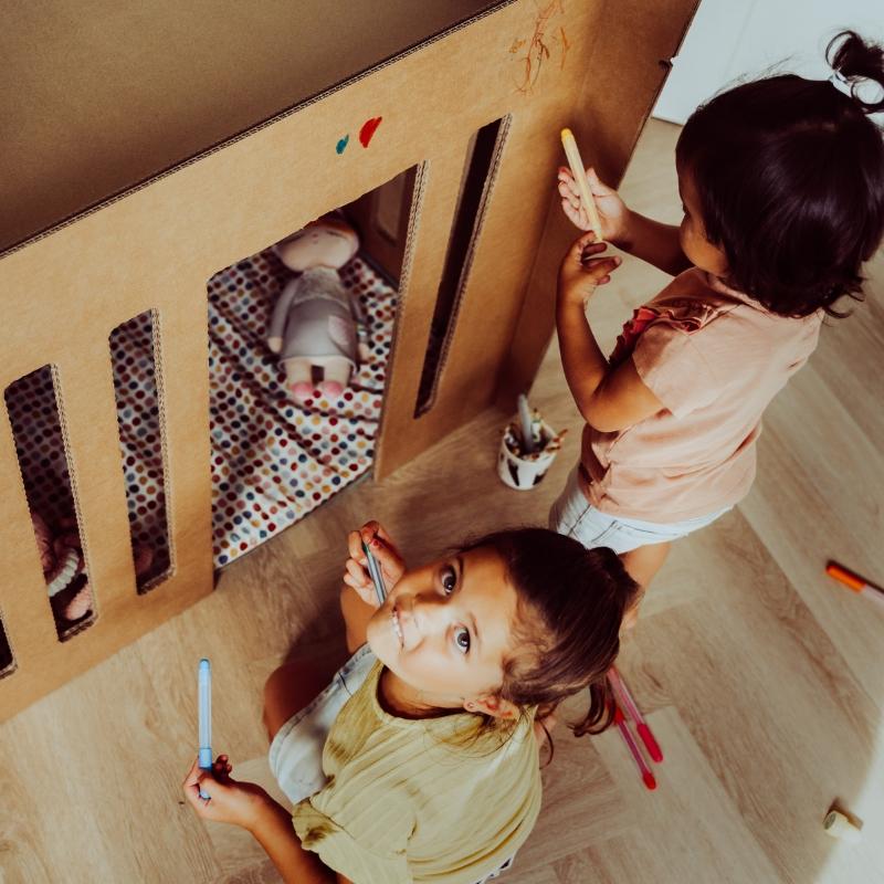 Zdjęcie EVE Łóżeczko dla Dziecka z Tektury HAP