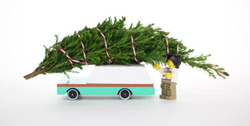 Zdjęcie Candylab Samochód Drewniany Teal Wagon