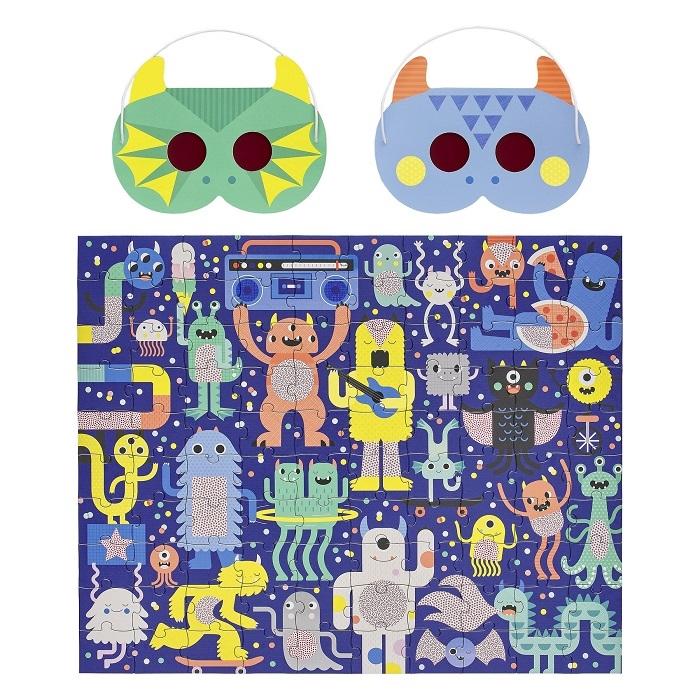 Zdjęcie Petit Collage Puzzle Ukryte Obrazki Potwor