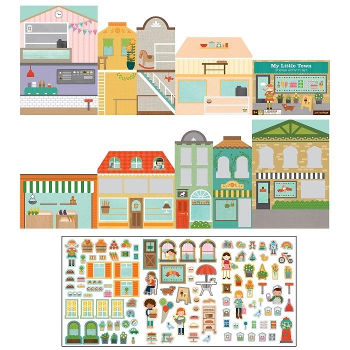 Zdjęcie Petit Collage Naklejki z Planszą Miasto