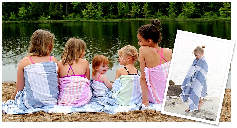 Zdjęcie Lulujo Ręcznik Turecki 3w1 Zielony