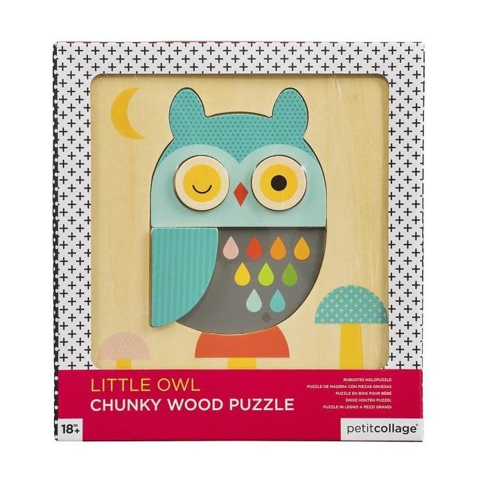Zdjęcie Petit Collage Puzzle Drewniane Sowa