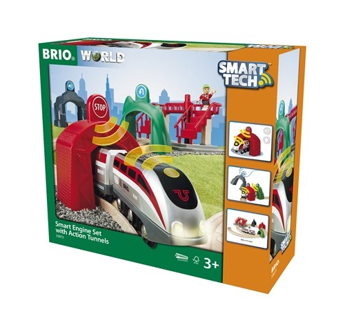 Zdjęcie BRIO Smart Tech Zestaw Pociąg z Tunelami