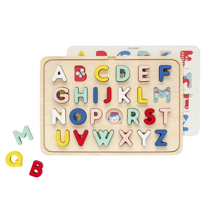 Zdjęcie Petit Collage Puzzle Drewniane Alfabet