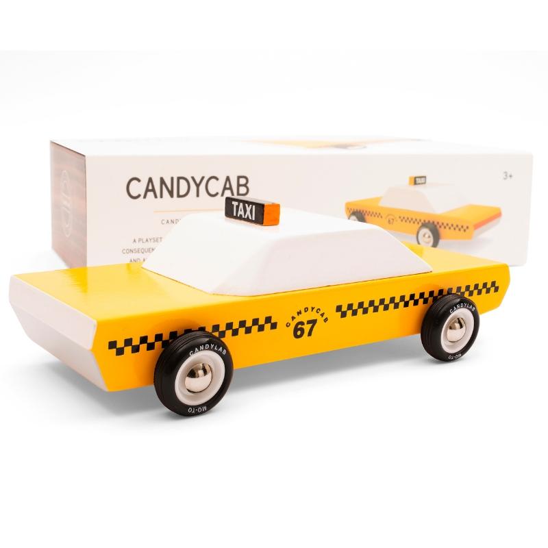 Zdjęcie Candylab Samochód Drewniany Taxi Cab