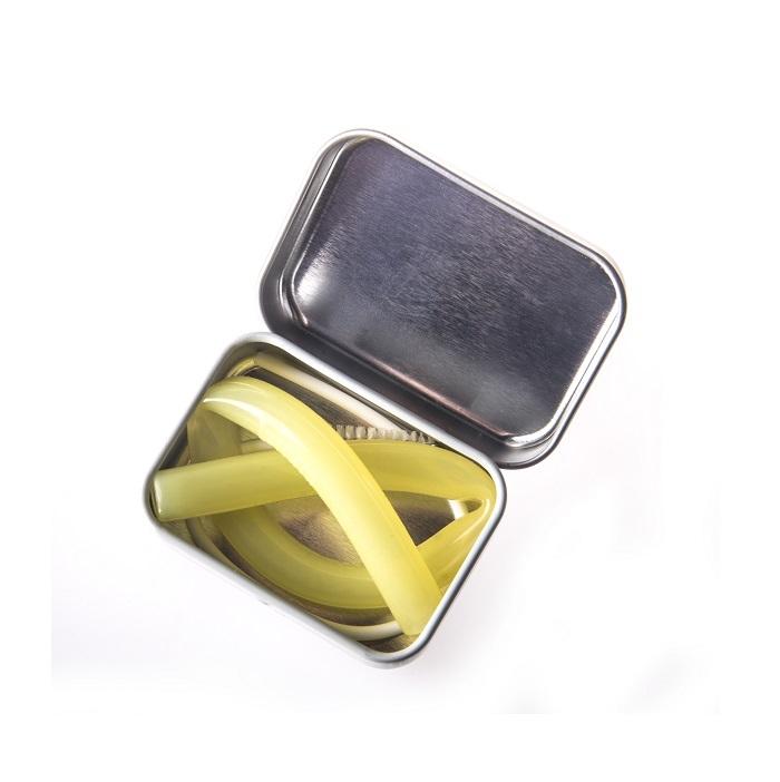Zdjęcie Fommi Słomka Wielorazowa w Pudełku Yellow