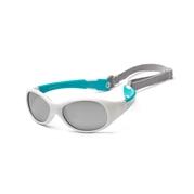 KOOLSUN Okulary FLEX White Aqua 3-6 lat