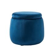 Kids Concept Puf Okrągły Velvet Blue