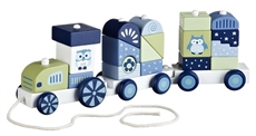 Kids Concept Pociąg z Klockami Niebieski