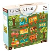 Petit Collage Puzzle Podłogowe Pociąg