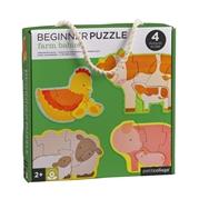 Petit Collage Pierwsze Puzzle Farma Baby