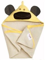 3 Sprouts Ręcznik Z Kapturem Małpka Żółta