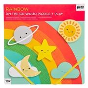 Petit Collage Puzzle Drewniane Tęcza