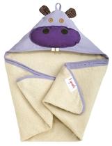 3 Sprouts Ręcznik Z Kapturem Hipopotam