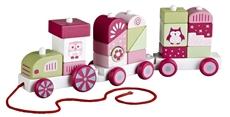 Kids Concept Pociąg z Klockami Różowy