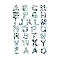 Kids Concept Tablica Alfabet Duży Szary