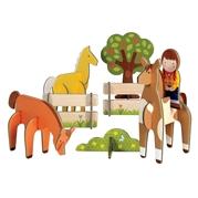 Petit Collage Puzzle Przestrzenne Konie