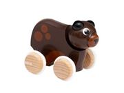 BRIO Drewniana Zabawka do Pchania Miś