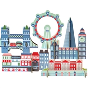Petit Collage Puzzle Przestrzenne Londyn