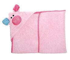 Zoocchini Ręcznik Mały Z Kapturem Świnka
