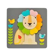 Petit Collage Puzzle Drewniane Lew