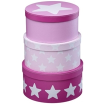 Kids Concept Pudełka Kartonowe Okrągłe Pin