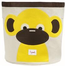 3 Sprouts Kosz Na Zabawki Małpka