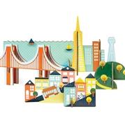 Petit Collage Puzzle Przestrzenne San Fran