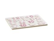 Kids Concept Puzzle Drewniane Cyfry Różowe