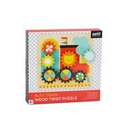 Petit Collage Drewniane Ruchome Puzzle dla Dziecka Pociąg