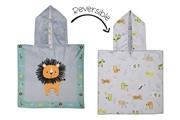 FlapJack Poncho Kąpielowe dla Dzieci Lew/Zoo UPF50+