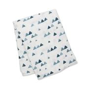 Lulujo Kocyk Bambusowy Navy Triangles