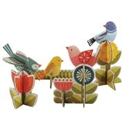 Petit Collage Puzzle Przestrzenne Ptaki