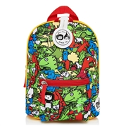 Zip & Zoe Plecak Mini ze Smyczą Dino Multi
