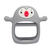 Smily Mia Gryzak Silikonowy Pingwin Buddy Light Grey