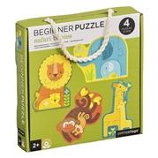 Petit Collage Pierwsze Puzzle Safari Baby