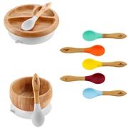 Avanchy Rainbow Bambusowy Zestaw Obiadowy dla Dziecka Gray