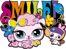 Littlest Pet Shop Naklejka Piankowa Smile